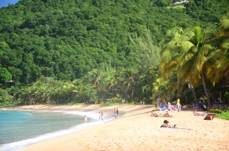 La Plage de Grande Anse close to Deshaies.