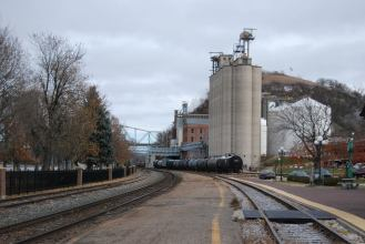 Train tracks in Red Wing.