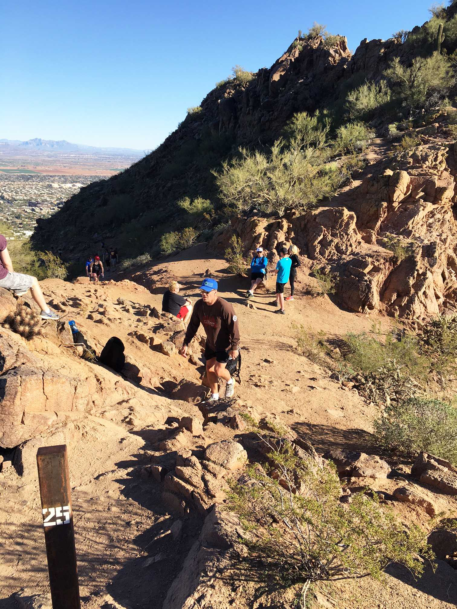 There are two sides of the mountain you can hike, echo canyon and cholla trail. Camelback Mountain Phoenix Arizona The Explorer S Passage