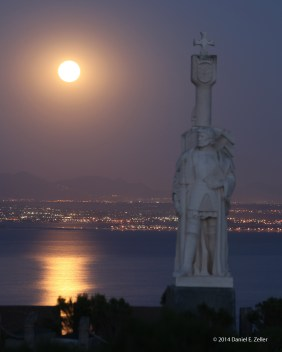 Moonrise over San Diego taken from Cabrillo National Monument, Wednesday, May 14, 2014
