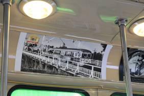 Vintage trolley interior detail