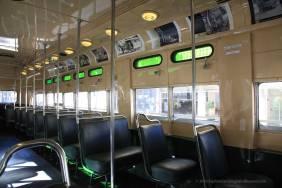Vintage trolley interior
