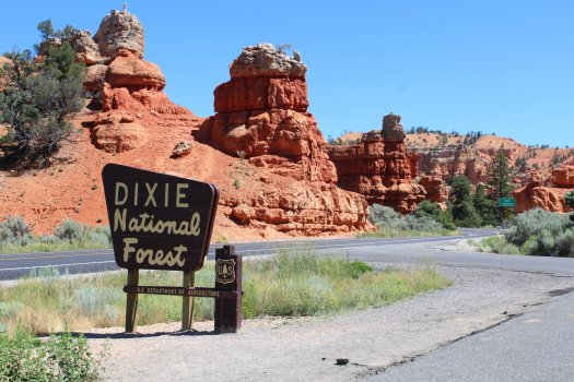 Entrance to Dixie National Forest