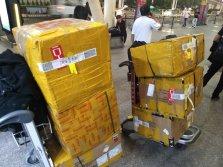 Boxes shipped to China