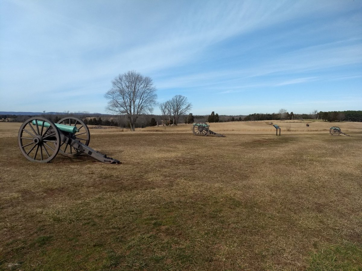 Cannons Near the First Manassas Trail