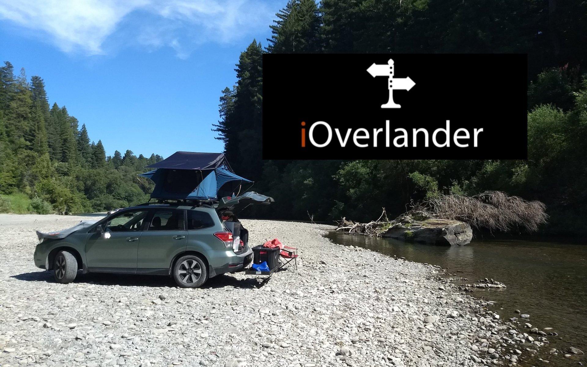 iOverlander - on the South Fork Eel River