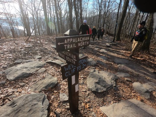 Sign to Weverton Cliffs - 12-27-20