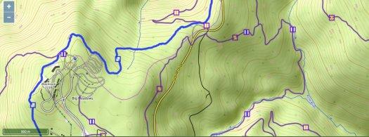 Waymarked Trails - Rose River Falls area topo basemap
