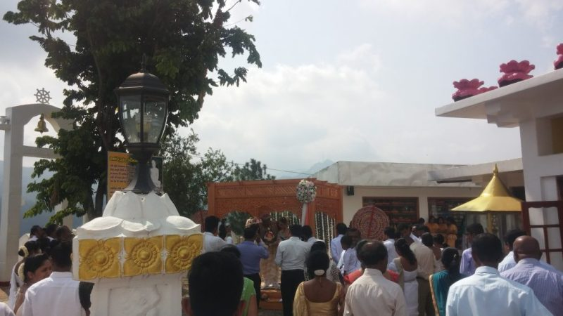 A Wedding Ceremony at Temple