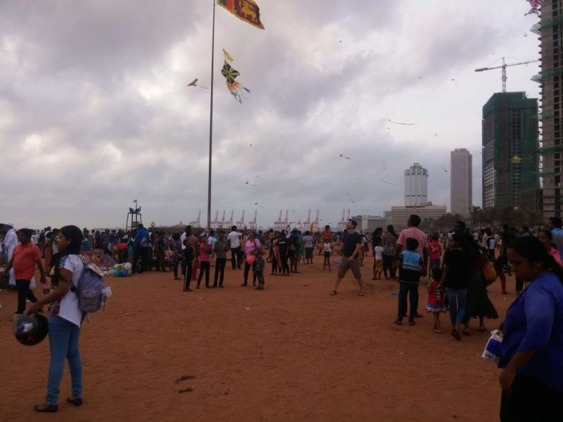 A Foreigner is Kiting at Galle Face