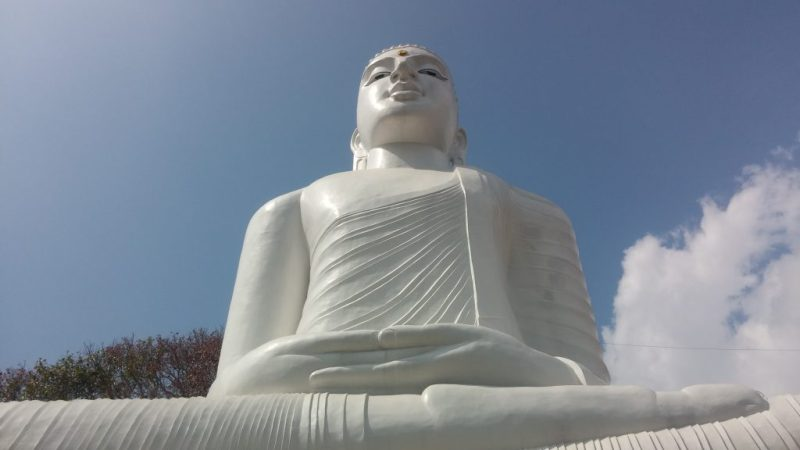 Second largest sitting Buddha statue in Sri Lanka - Bahirawa Kanda