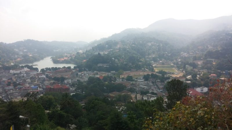 View of Kandy City from Bahirawa Kanda