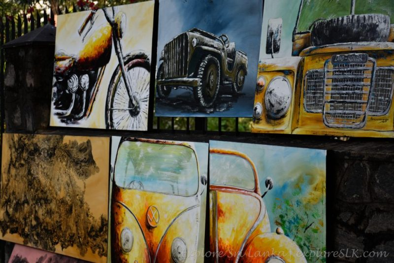 Paintings of vehicles
