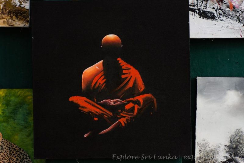 meditating monk painting