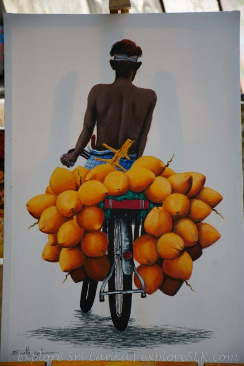 King Coconut seller painting