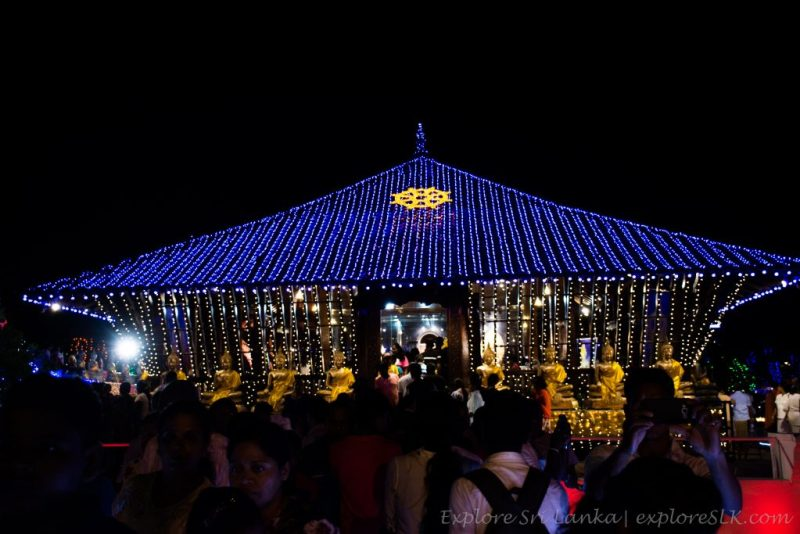 Vesak decorations in Seema Malakaya