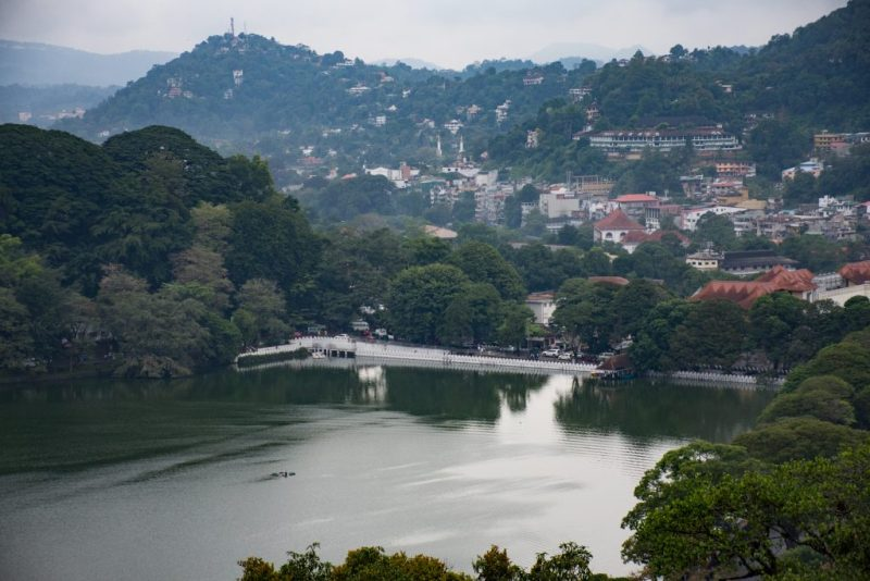 View of Kandy city from Udawatta Kele
