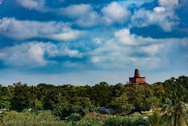 View of Jethawanaramaya Stupa from Isurumuniya