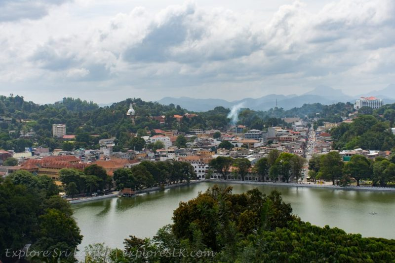 View of Kandy Lake from Authur's Seat