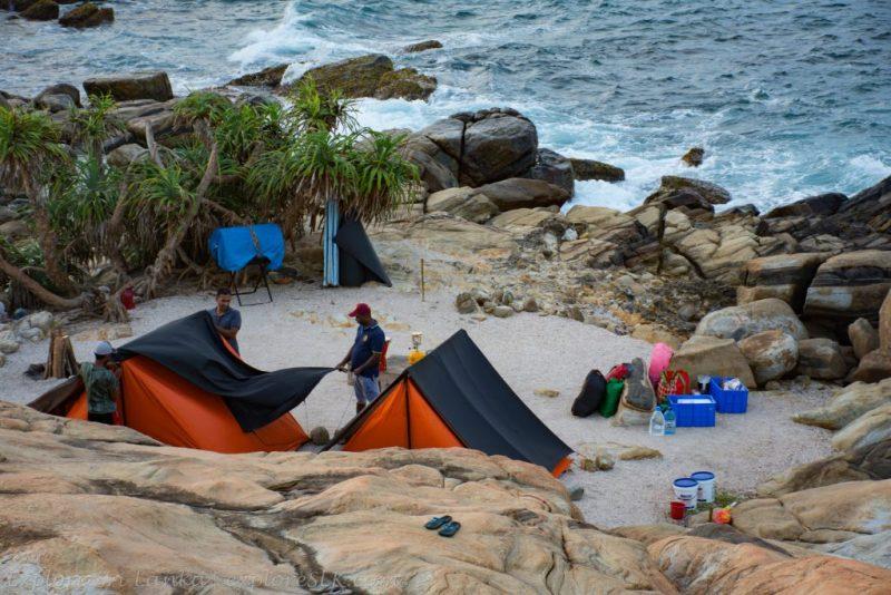 Camping at Blue Beach Island