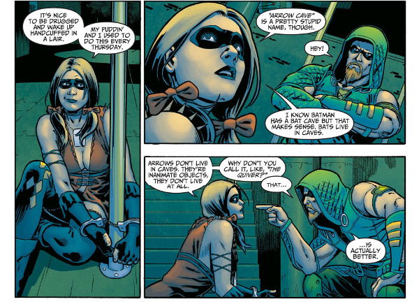 Injustice Green Arrow and Harley Quinn