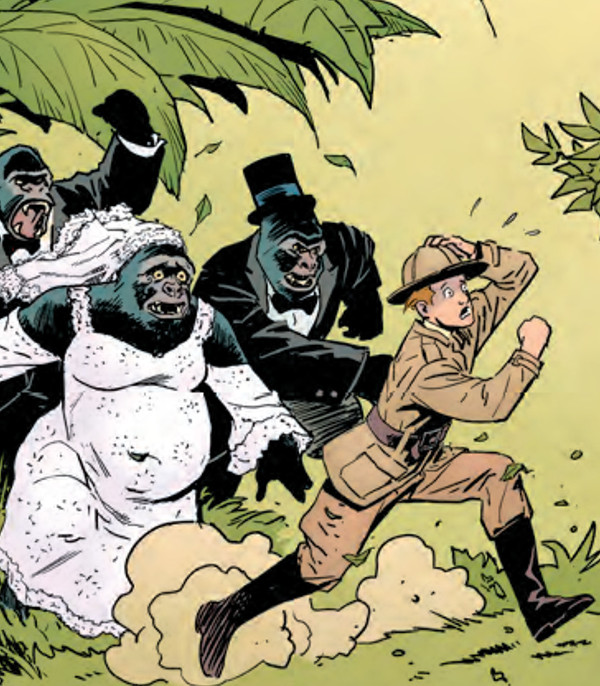 Jimmy Olsen Escapes A Gorilla Wedding