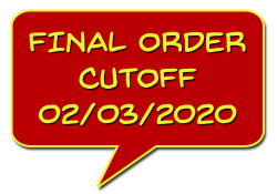 Final Order Cutoff (FOC) 2/3/2020