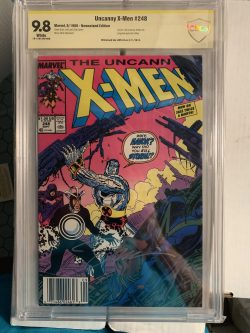 Uncanny X-men #248 CBCS Graded 9.8 Signed by Jim Lee