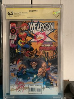 Weapon X #1 CBCS Graded 6.5 Signed by Adam Kubert
