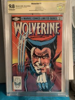 Wolverine #1 CBCS Graded 9.8 Signed by Frank Miller