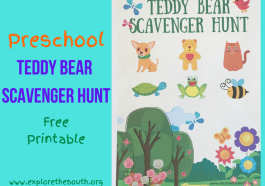 Preschool Teddy Bear Scavenger Hunt Printable #scavengerhunt #preschoolprintable