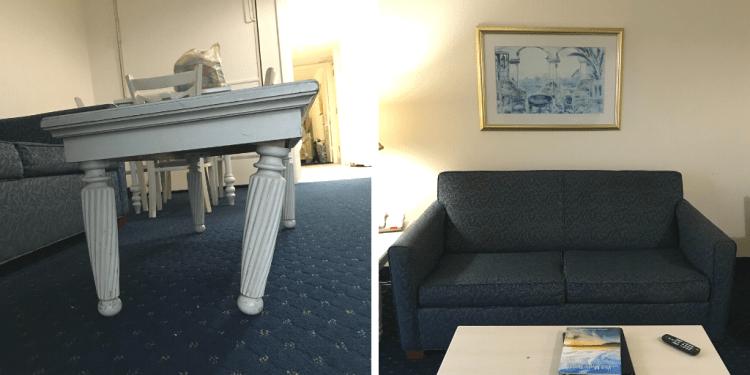 Raggedy Furniture in a hotel