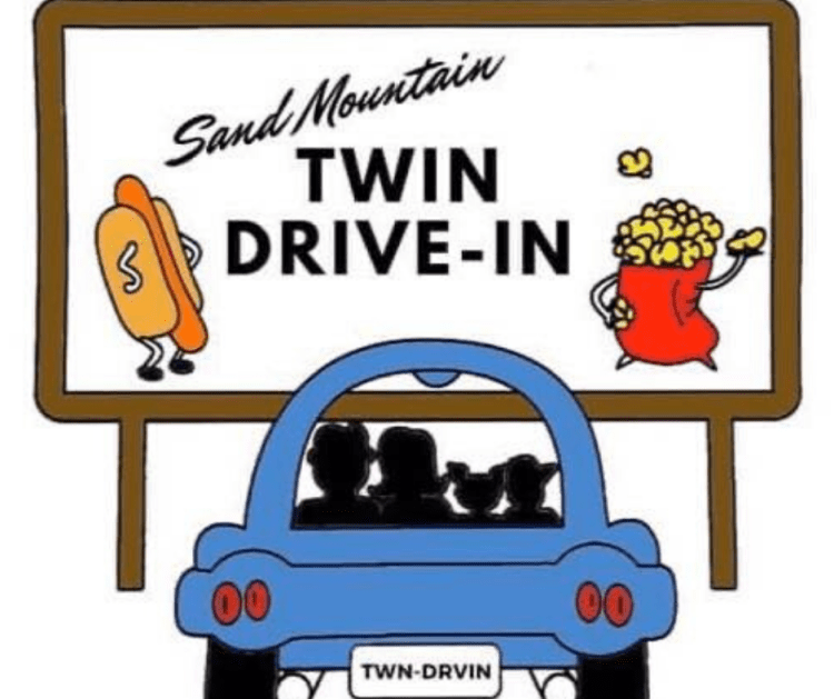 Sand Mountain Drive In Movie Theatre advertisement