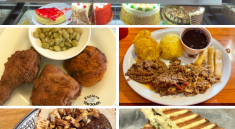 5 pictures of food from restaurants in Warner Robins Ga.