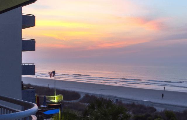Southeastern Beach sunrise from hotel balcony