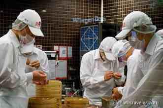 Din Tai Fung chefs working hard to master the perfect dumplings in Taiwan