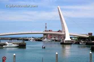 Lovers Bridge in Danshui Taiwan