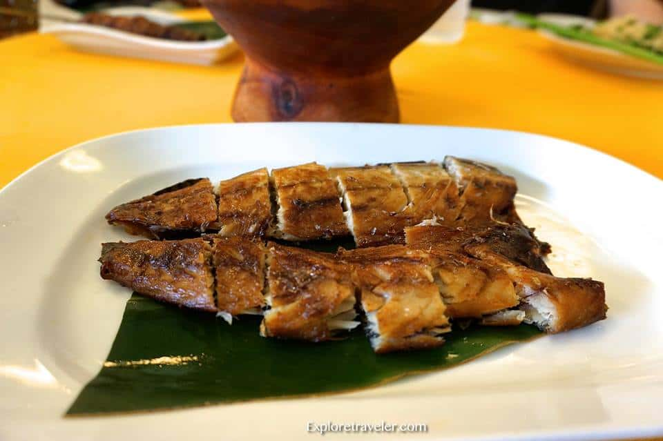 Salted Fish at Mabanai indigenous restaurant Taitung Taiwan