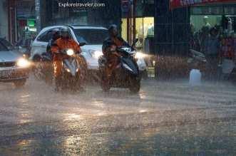 A rainy night in Keelung Taiwan