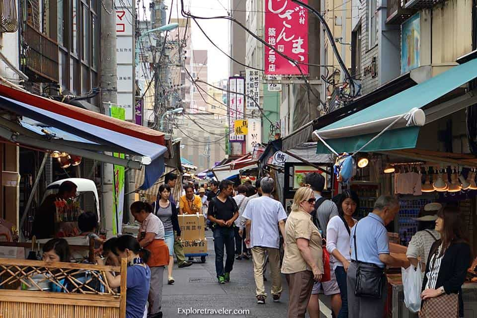 Shopping at the Tsukiji Market (築地市場) inTokyo