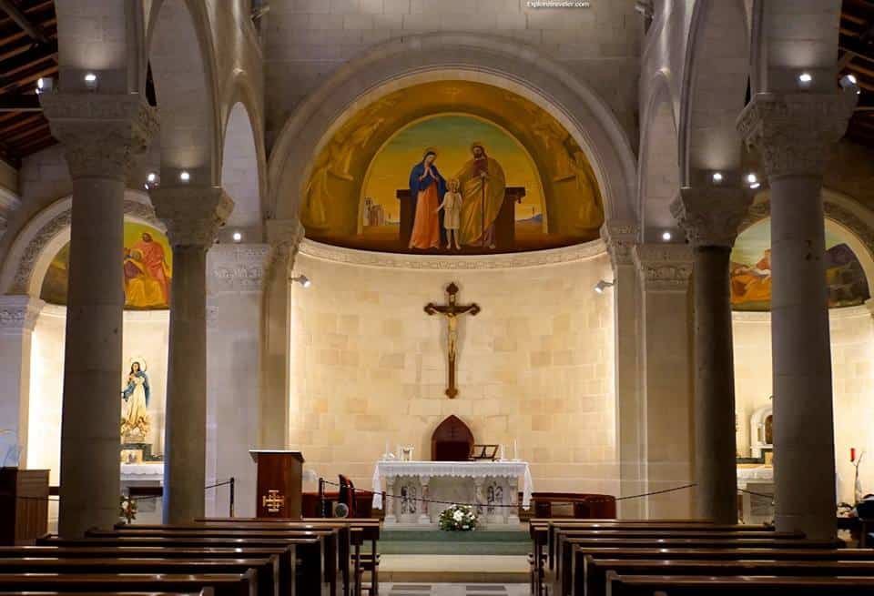 St #Joseph's Church, built over the carpentry workshop in the old city of #Nazareth #Israel