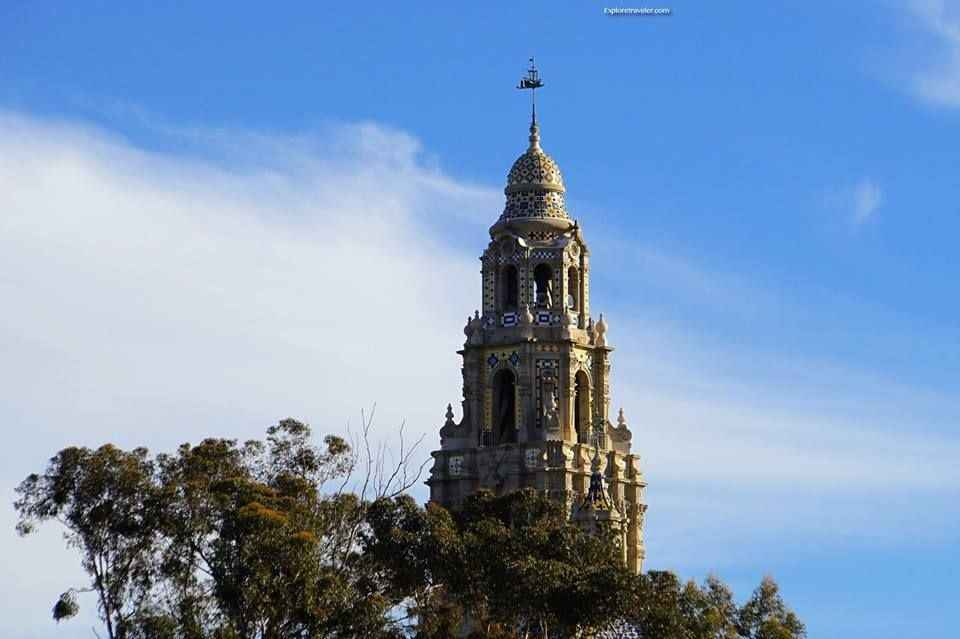 Historic Bell Tower in Balboa Park San Diego California USA