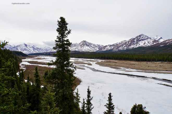 River and mountains of Denali National Park