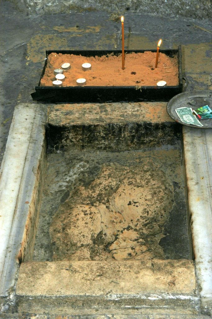 footprint of jesus