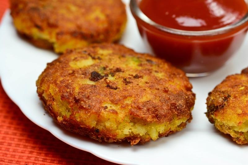 Indian Aloo Tikki Dish