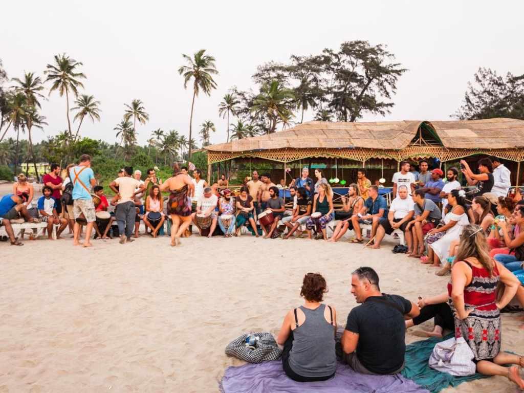 evening time in arambol beach