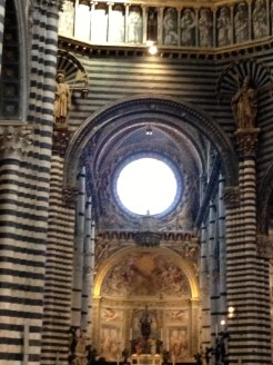 Interior of the duomo, Siena.