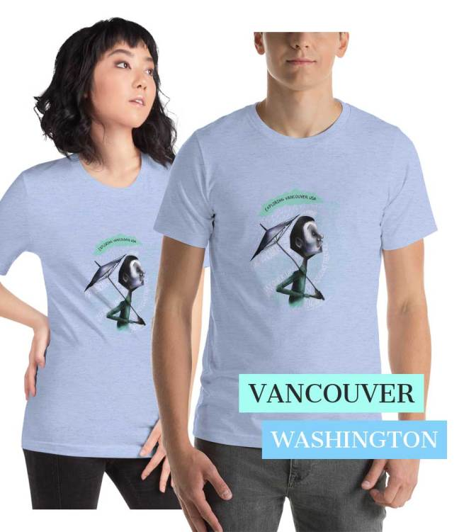 Explore Vancouver Wa with Blue Searcher T-Shirt
