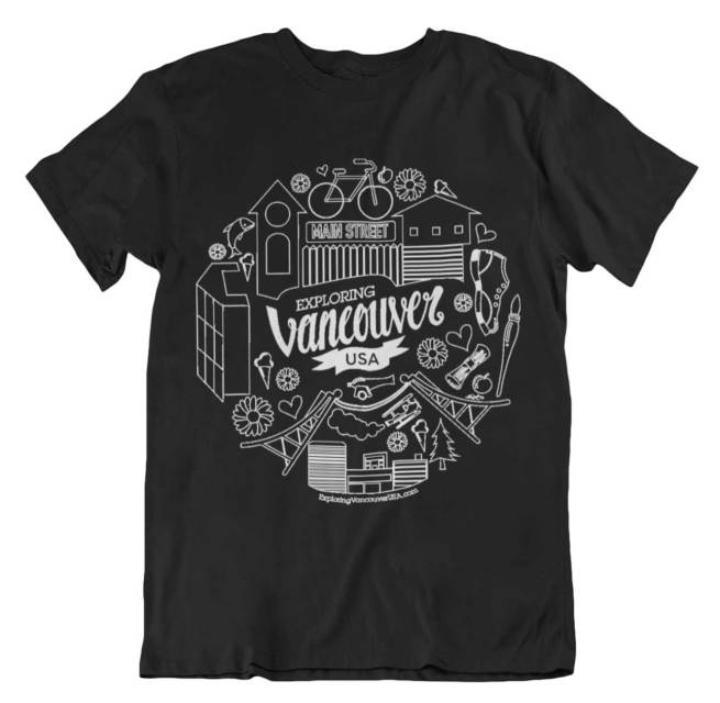 Vancouver WA themed t-shirt