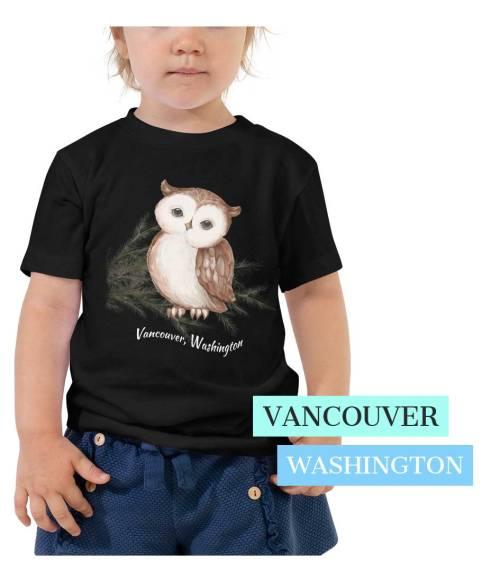 kids owl t shirt vancouver wa